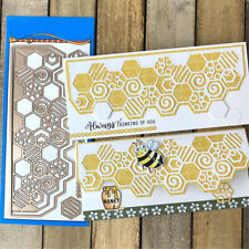 Slimline Bee Framelits Cutting Dies Stencil for DIY Scrapbooking Paper Cards