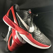 Nike Zoom Kobe 6 VI Bred Black Red White 8.5 US 429659-001 Jordan FTB prelude