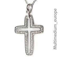 Silber Kreuz Anhänger Zirkonia silver cross pendant zirconia 🌺🌺🌺🌺🌺
