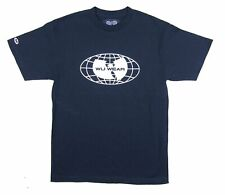 Wu Wear Wu Tang Clan Globe Patch Sleeve Navy Blue T Shirt New Official Merch