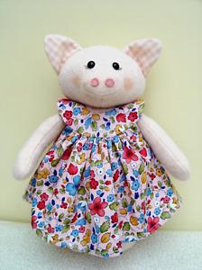 Trixie Truffles Toy Pig Pattern from Country Folk by Brenda Walker. Teddy Bear