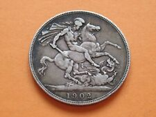 More details for 1902 silver crown edward 7th scarce year high collectable grade