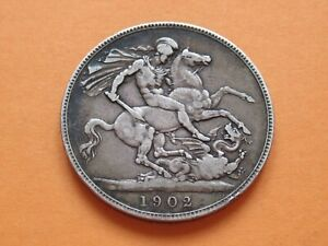 1902 Silver Crown Edward 7th Scarce Year High Collectable Grade