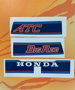 1983 Honda ATC200E Big Red Rear Fender Decals Sticker 83 ATC 200E 3pc set HB101
