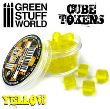 Cube Tokens Yellow - Markers, Resources, Materials - Tabletop & Card Board Games
