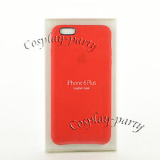 Original Apple Leather Case Cover for iPhone 6 Plus iPhone 6s Plus Open Box Red