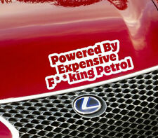 Powered by costosi F ** KING Benzina Auto Adesivo divertente / VAN / Finestra / paraurti / Decalcomania