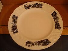 "Wedgwood Huet Osier creamware 7 1/4"" rimmed Salad or Bread Plate ca.1920's Rare"