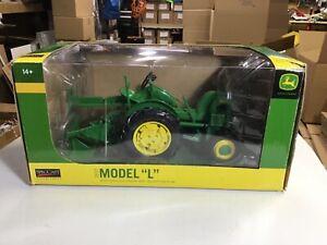 Spec- Cast John Deere Model L Tractor With One-Bottom Plow, 1:16 Scale,NIB