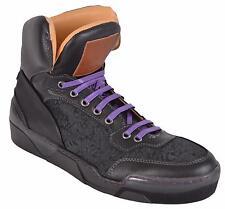 NEW Robert Graham Rockafeller 2 Leather High Top Sneakers Shoes 9 42