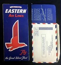 Eastern Air Lines Printed Route Time Schedules Vintage 40s Survey Card Lot of 2