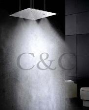 20 Inch Ceiling Mounted Brushed Atomizing And Rainfall Bathroom Shower Head