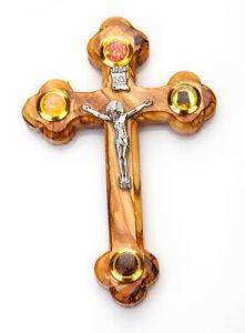 "Olive Wood Orthodox Crucifix Cross 5.5"" from Bethlehem"