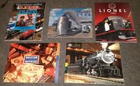 Lot of 5 Vtg CATALOG LIONEL TRAIN 1999/2011/1993/1996 x2 railroad books ANTIQUE