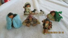 Enesco Friends of The Feather Native American Indian Figurine Lot