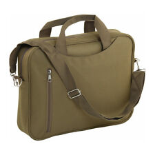 "14"" Padded Laptop Bag Notebook Macbook Computer Carry Case Shoulder Khaki Unisex"