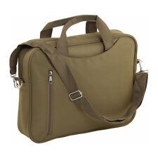 "14"" Padded Laptop Bag Notebook Macbook Computer Carry Case Shoulder Khaki Unisex"