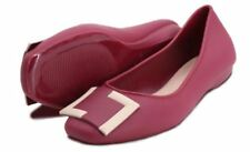 Khoee Cameron Women's Slides Flat Slippers Sandals MAROON   SIZE 40