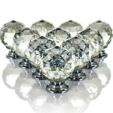 LIVIVO 10 DRAWER DOOR KNOBS DIAMOND CRYSTAL CUPBOARD WARDROBE FURNITURE HANDLE