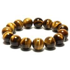 Natural Tiger's Eye Crystal Bead Men Women Lucky Charm Energy Bracelet Bangle UK
