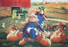 John Deere Collection Zolan Fall Autumn Harvest Double-Sided Cloth Placemat