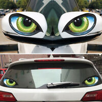 Decor Universal Cat Eyes Car Stickers Reflective Rear view Mirror Decal 3D