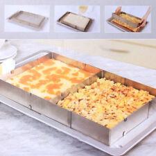 Adjustable Cake Tart Pastry Bake Frame Mould Kitchen Craft Stainless Steel Tool