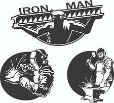 DXF CDR File For CNC Plasma or Laser Cut Clipart Graphic ART - Iron Man - 3 Item