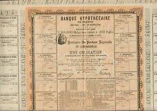 BANQUE HYPOTHÉCAIRE DE FRANCE 1880 (A)