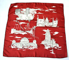 BURBERRY XXL SCHAL TUCH SCARF Carré платок 100% SILK 75 x 75 NP 279 € RED CITY