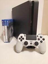 PS4 500GB Slim Jet Black Console BUNDLE 1 Controller + Games