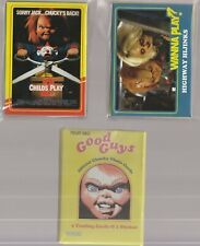 Chucky Child's Play Fright Rags Complete Card Set Base Sticker Alternate Wrapper