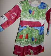 """NEW """"Sun Moon Kids"""" Drawing / Painting / Landscape 4-5 y.o. Girl's Dressy Dress"""