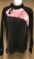Huntworth womans pink and black hunting gear top medium