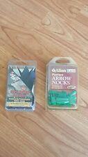 "Allen Arrow Nocks - 11/32 Size & 12 4"" Right Wing Parabolic Black Feathers New"