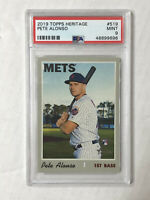 PETE ALONSO 2019 Topps Heritage HIGH NUMBER SP RC #519! PSA MINT 9! HUGE SALE!
