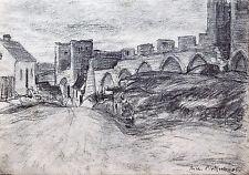 Hansestadt Visby Gotland 1905 secessione tempo carbone Richard Pietzsch 1872-1960