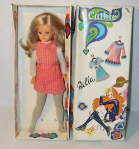 RARE en boite Poupée Bella Cathie vintage 48cm cheveux magique jambes flexible 1