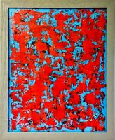 Original abstract painting textured 16X20 canvas contemporary 3D modern fine art