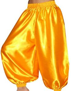 Pants Harem Yoga Genie Trouser Tribal Costume Outfit Belly Dance Golden S ~ 5XL