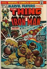 Marvel Feature #12 (Marvel 1973) VF/NM: Thing & Iron Man/Blood Brothers/Thanos