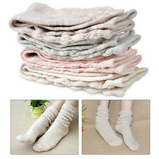 4 Pairs Fashion Cotton Japanese Slouch Loose Misty Socks School Girl ankle high