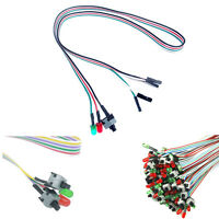 ATX PC Computer Motherboard Power Cable 2 Switch On / Off / Reset with LED Hot