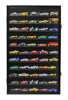 Hot Wheels 1:64 & 1/43 Scale / Minifigure Display Case Wall Cabinet, HW11-BL