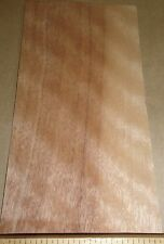 "Mahogany Bosse Figured wood veneer 3"" x 7"" raw with no backing ""A"" grade 1/42"""