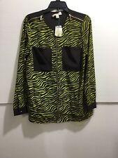 Michael Kors ladies size medium zebra print zipper down shirt
