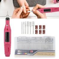 Electric Nail Drill Bits30 Kit File Tool Machine Acrylic Art Manicure Pen Shaper