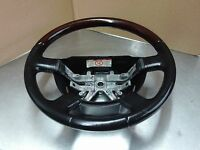 Lincoln Aviator 03-05 Navigator 03-06  Steering Wheel Leather Wood Black