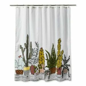 "Plants Print Shower Curtain Green - Room Essentials - 72"" x 72"" Cactus Succulent"