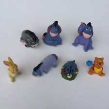 Eeyore Figurines Pooh Rabbit Play set Felt Plastic Ceramic Cake Topper
